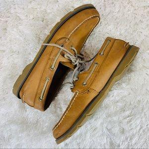Sperry Leeward 2 eye Boat Shoes Sahara Tan 9M